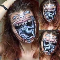 19-летняя визажистка из Литвы оттачивает свои умения на самых безумных образах https://vk.com/leprazo?w=wall-65960786_67906