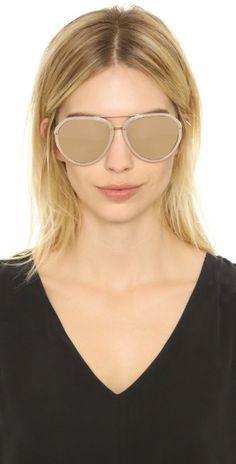 Linda Farrow Luxe Mirrored Aviator Sunglasses   SHOPBOP