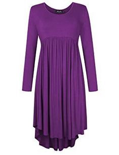 Plus Size Scoop Neck Long Sleeve Pleated Tunic Casual Dress for Women Outfits Plus Size, Plus Size Dresses, Plus Size Business Attire, Floral Midi Dress, Casual Dresses For Women, Plus Size Women, Flare Dress, Business Women, Scoop Neck