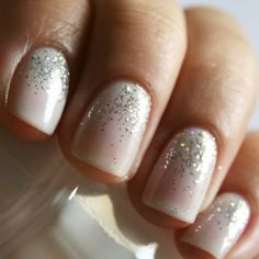 subtle glitter is classic and adorable.