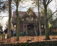 Carson-Clemmer-Larrabee House, Spokane, Washington. Gothic-style historic home designed by architect John K. Dow in 1905.