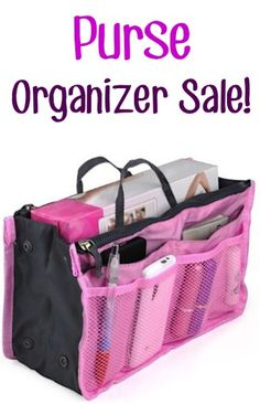 Purse Organizer Sale: $3.89 + FREE Shipping!!  {get that purse organized quickly with this insert!}