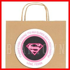 Supergirl Personalized Birthday Party Favor by BeanTownParties