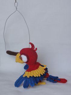 Chili der Papagei Amigurumi Häkeln Muster von IlDikko auf Etsy