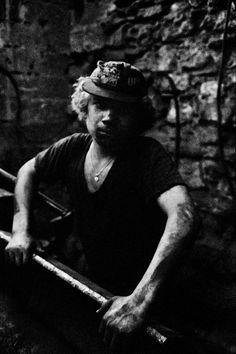 Ara Guler TURKEY. 1972. A young worker at the repair wharf.