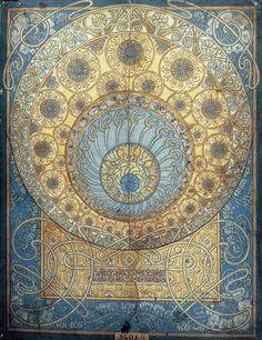 Mucha Sketch for the Ginzkey carpet. Art Nouveau | JV