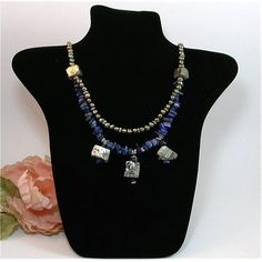 Gorgeous Pyrite Fresh water Pearls and Lapis by GourmetCollection