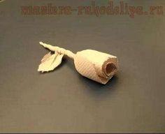 Rosa de servilletas de papel