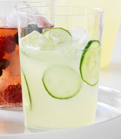 Cucumbers really are cool, especially in lemonade. Add zip with a bit of grated fresh ginger. Another great idea: combine lemonade with fresh basil or with puréed strawberries.  - WomansDay.com