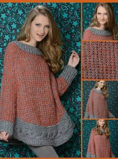 Bello Knitting Designs, Knitting Projects, Knitting Patterns, Crochet Patterns, Knitted Capelet, Crochet Poncho, Knitting Toys Easy, Casual Chic, Knitwear