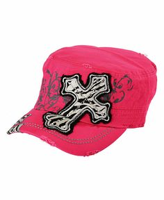 Embroidered Zebra Print Cross Casual Cap - Sheplers