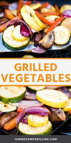 Grilled Vegetables are a quick and easy side dish on the grill. A mix of peppers, zucchini, summer squash, red onion, and mushrooms with spices and balsamic vinegar makes a delicious caramelized vegetables. #vegetables #grilled