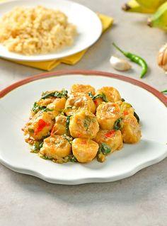 Thai Recipes, Cooking Recipes, Authentic Thai Food, Yummy Yummy, Potato Salad, Potatoes, Banana, Baby