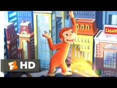 Curious George (2006) - Giant George Scene (8/10) | Movieclips - YouTube Classic Trailers, New Trailers, Frank Welker, Movies Coming Soon, Will Ferrell, Pbs Kids, New Clip, Curious George, Indie Movies