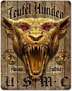 Design Usmc Devil Dog Vintage Steel Wall Sign - Online Army Navy Store - Military Clothing, Gear and Once A Marine, My Marine, Us Marine Corps, Military Humor, Military Art, Military Signs, Military Quotes, Biker Quotes, Military Veterans