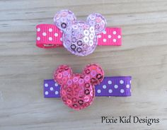 Mickey Minnie Mouse Inspired Pink and Purple by PixieKidDesigns, $1.75