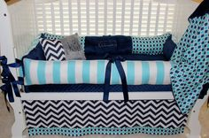 Boys custom baby bedding 6 pc set by BabiesNBaubles on Etsy, $435.00