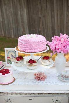 Vintage Rose Tea Party with Lots of Darling Ideas via Kara's Party Ideas | KarasPartyIdeas.com #Garden #TeaParty #PartyIdeas #PartySupplies