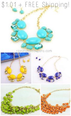 *HOT* Bold Multi Layered Colorful Necklaces Only $1.01 + FREE Shipping (Select Colors!)