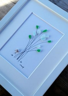 Pebble art flowers Sea glass flowers Flowers by pebbleartSmiljana
