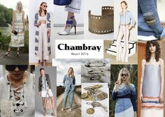 Chambray trend board - TrendSpotlight by SMFalittlesomething: CRUISING INTO RESORT 2016 STYLE...