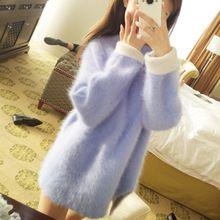 Inverno solto espessamento médio-longo pulôver de gola alta camisola marta veludo camisola outerwear feminino(China (Mainland))