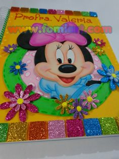 Libreta Decorada: Minnie Mouse Tamaño Profesional | Fomiart General Crafts, Mickey And Friends, Corpus Christi, Minnie Mouse, Art Reproductions, Hello Kitty, Lunch Box, Greeting Cards, Quilts