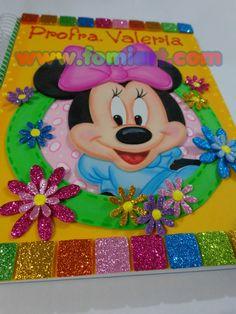 Libreta Decorada: Minnie Mouse Tamaño Profesional | Fomiart