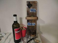 Wine Opener Beer Opener Corkscrew His and Hers Cast Iron