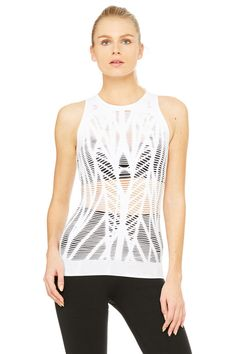 Vixen Fitted Muscle Tank | Women's Yoga Tops at ALO Yoga