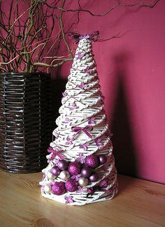Vánoční stromek, Stromek, Pletení z papíru, Vánoce, Vánoční stromeček