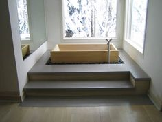 Japanese Soaking Tub | ... contemporary japanese bathub via furniturefashion japanese ofuro tub