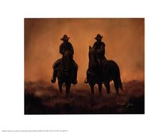 End of the Day by Judith Durr art print | Western & Horse Decor
