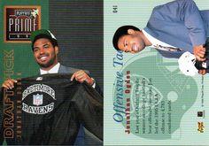 ogden ravens football card   1996 Jonathon Ogden, Ravens, 2 Playoff Prime Rookies #41, Itm#F2281