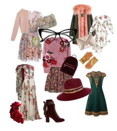 """""""Flower dress for autumn"""" by highills on Polyvore featuring мода, Hollister Co., Dolce&Gabbana, Valentino, Max&Co., Off-White, Zuhair Murad, A.W.A.K.E., Chloé и even&odd"""