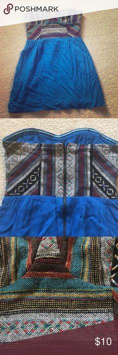 Blue dress size 4 rubber