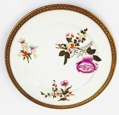 Royal Worcester dinner plate chinoiserie floral ornate gold trim 1887…