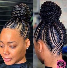 Braided Cornrow Hairstyles, Feed In Braids Hairstyles, Braids Hairstyles Pictures, Braided Hairstyles For Black Women, African Hairstyles, Hair Pictures, Feed In Braids Ponytail, Cornrows Updo, Black Hair Braid Hairstyles