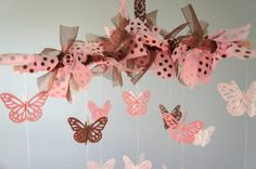Pink & Brown Nursery Decor- Baby Mobile, Baby Shower Gift. $35.00, via Etsy.