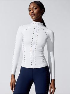 New Women's Active and Ready to Wear   Carbon38 Velvet Bomber Jacket, Moto Jacket, White Fashion, Lounge Wear, Fashion Models, Active Wear, Ready To Wear, How To Wear, Fashion Design