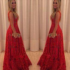 Lace V-neck Prom Long Tank Dress Prom Dresses 0a64c8bc33d9
