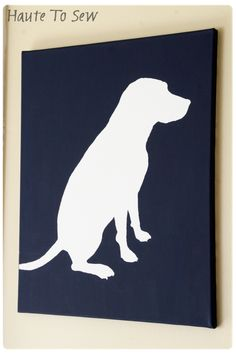 DIY Dog Silhouette Painting - if the puppies could sit still long enough..