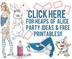 Pip Pip Hooray: Alice in Wonderland Tea Party Ideas