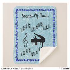 SOUNDS OF MUSIC SHERPA BLANKET