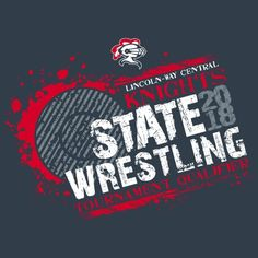 9bb46f2f4 3-color state champions #Wrestling tee shirt design. #StateWrestling Wrestling  Shirts,