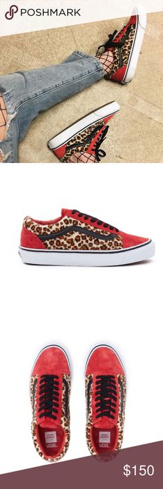 Vans x Opening Ceremony Faux suede/ leopard print vans x opening ceremony. Size 9.5 womans 8 mens. Brand new with box. Purchased wrong size, now sold out online. Will only trade for same shoe in a woman's 8. Cheaper through pal. Opening Ceremony Shoes Sneakers