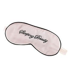 Sweet dreams, Sleeping Beauty. Forget about your crazy stepmother and just slip on this luxe silk sleepmask and the prince will come by shortly and wake you with a kiss.