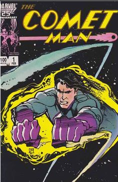 Marvel Comics releases The Comet Man six issue series created and written by Bill Mumy and Miguel Ferrer with artwork by Kelley Jones and cover art by Bill Sienciewicz. They sold half a million of them.