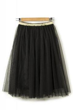 Midi Mesh Skirt