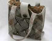 EcoChic Tote Bag Upcycled Plaid Wool  60% off